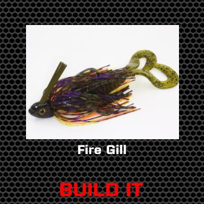 Fire Gill Bass Jig Custom Build